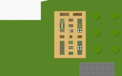 Planlægningen af køkkenhaven (højbede)