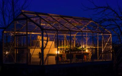 Drivhuset holder varmen om natten