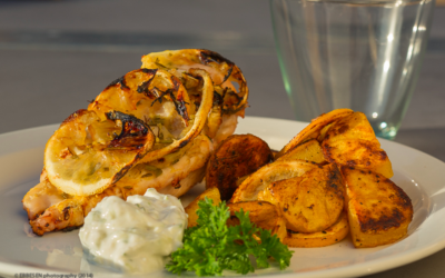 Grillet kyllingefilet med citron og rosmarin