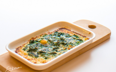 Bagt spinat med ricotta og muskatnød